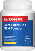 Nutra-Life Joint Formula + MSM Powder Review